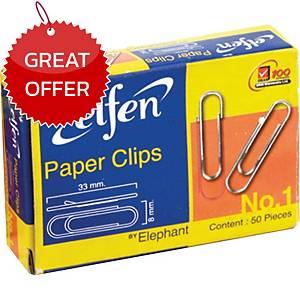ELFEN ROUND CLIPS NICKELED 33MM - BOX OF 50