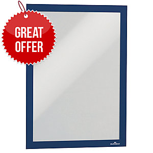 DURABLE BLUE A4 DURAFRAME - PACK OF 2