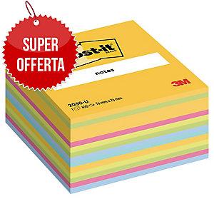 FOGLIETTI POST-IT® ADESIVO STANDARD: CUBO DA 450 FOGLI 76x76MM ULTRA GIALLO