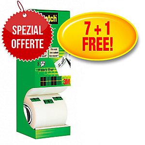 Klebeband Scotch Magic 810, 19 mmx33 m, beschriftbar, 7+1 gratis, Pk. à 8 Stk.