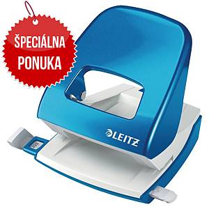 Stolový dierovač Leitz 5008 NeXXt WOW, kapacita: 30 listov, modrá