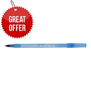 BIC ROUND STICK B/POINT MED BLU