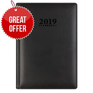 Letts Verona A5 Diary Black - Week To View