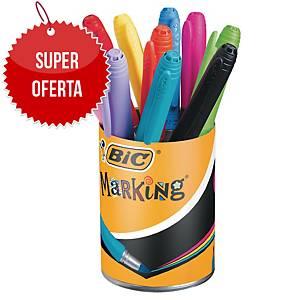 Zestaw markerów permanentnych BIC Marking Color, okrągła  końcówka, 9+1 GRATIS!