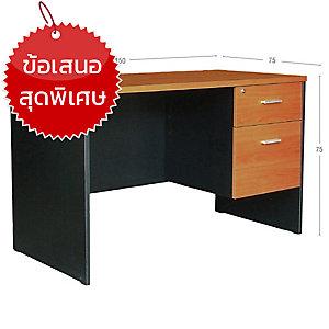 ACURA โต๊ะทำงานไม้ TWC-1502-75(F) เชอรี่/ดำ