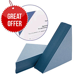 Legal Corners 315 gsm Blue Pack of 100