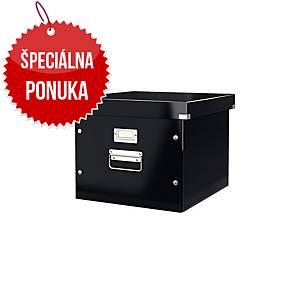 Krabica na závesné obaly Leitz 6046 Click & Store, na A4, čierna