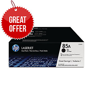HP 85A 2-pack Black Original LaserJet Toner Cartridges (CE285AD)