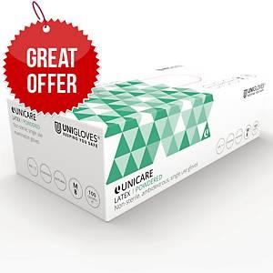 Latex Powdered Gloves Clear Medium (Box of 100)