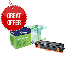 Lyreco HP CE322A Compatible Laser Cartridge - Yellow