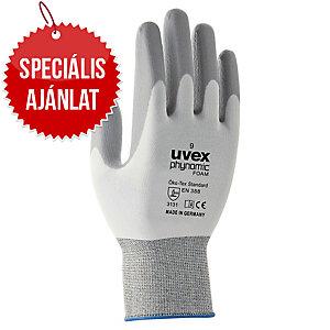 UVEX PHYNOMIC FOAM munkavédelmi kesztyű, fehér/szürke, méret: 7