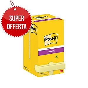FOGLIETTI POST-IT® ADESIVO SUPER STICKY: 12 BLOCCHETTI  76x76MM GIALLO CANARY™