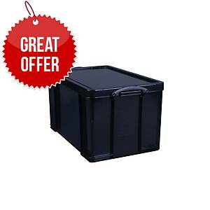 Really Useful Box Black 84 Litre Storage Box H380 X W440 X D710mm