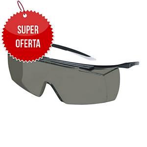 Okulary uvex super f OTG 9169, filtr przeciwsłoneczny UV 5-2,5, soczewka szara