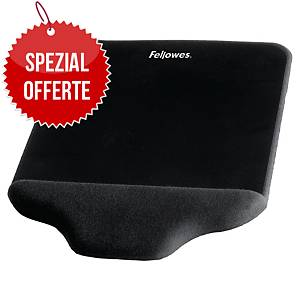 Mouse Pad Fellowes Plush Touch FoamFusion, Schaumstoff, schwarz