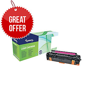 Lyreco HP CE413A Compatible Laser Cartridge - Magenta