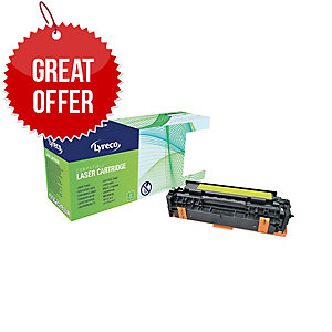 Lyreco HP CE412A Compatible Laser Cartridge - Yellow