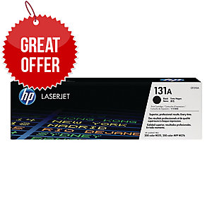 HP 131A Black Original LaserJet Toner Cartridge (CF210A)