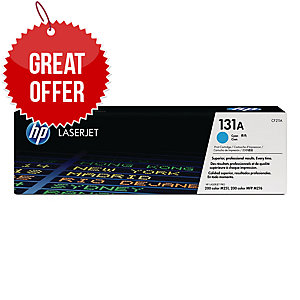 HP 131A Cyan Original LaserJet Toner Cartridge (CF211A)