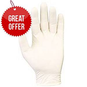 Latex Powdered Gloves Clear Small (Box of 100)