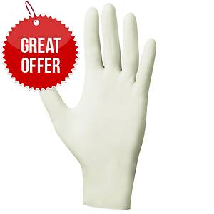 Latex PowderFree Gloves Clear Small (Box of 100)