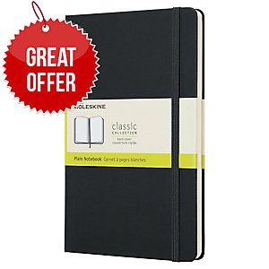 MOLESKINE QP062 LARGE NOTEBOOK 13X21 PLAIN