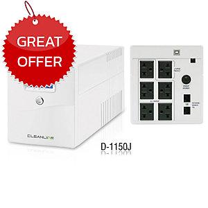 CLEANLINE D-1150J UPS 1150VA/630W WHITE