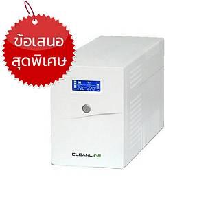 CLEANLINE เครื่องสำรองไฟ D-1500K 1500VA/900W สีขาว