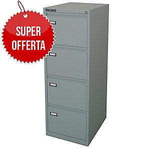 Classificatore per cartelle sospese Kubo Bertesi 4 cassetti in metallo grigio