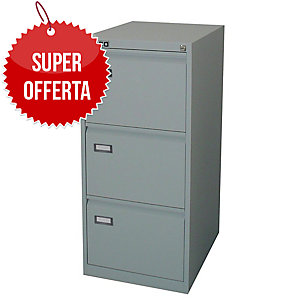 Classificatore per cartelle sospese Kubo Bertesi 3 cassetti in metallo grigio