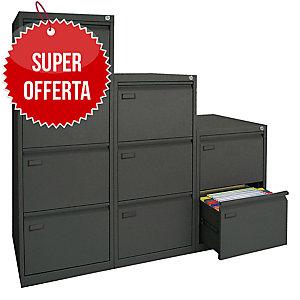 Classificatore per cartelle sospese Kubo Bertesi 4 cassetti in metallo nero