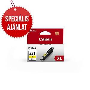 CANON tintasugaras nyomtató patron CLI-551Y XL (6446B001) sárga