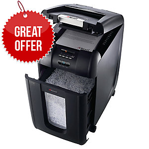 Rexel Shredder Auto Feed 300X Cross Cut P4 300 Sheet Shredder