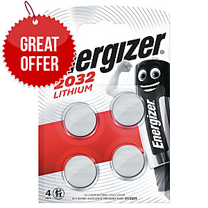 Energizer Cr2032 Lithium Coin Cell Battery Pack Of 4