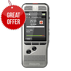 PHILIPS DMP6000 POCKET MEMO DIGITAL DICTATION MACHINE