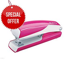 LEITZ WOW SERIES 55281 MINI STAPLER N°10 PINK - UP TO 10 SHEETS