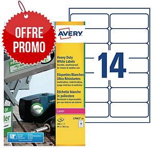 Etiquette ultra-résistante Avery - L7063-20 - 99,1 x 38,1 mm - blanche - par 280