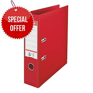 ESSELTE NUMBER 1 L/ARCH FILE 75MM RED