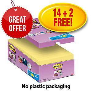 Post-It Super Sticky Value Pack Notes 76X127mm Yellow Pk16