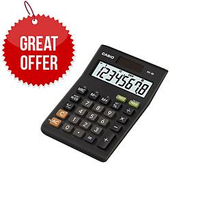 Casio MS-8B Desk Calculator - Tax & Currency - 8 Digit