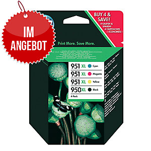 Tintenpatrone HP C2P43AE - 950XL, Reichw.: 2.300/1.500 S, Multipack 4, c/g/m/sw