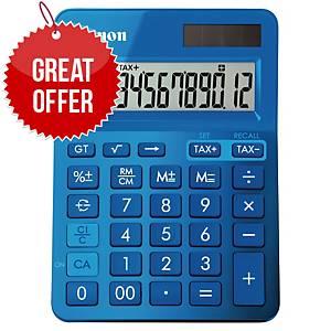 Canon K-Series 12 Digit Desk Calculator Blue