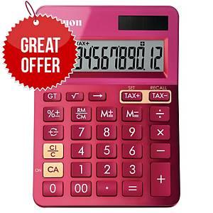 Canon K-Series 12 Digit Desk Calculator Pink