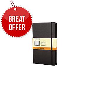 MOLESKINE QP060 HARD COVER NOTEBOOK LARGE RULED BLACK