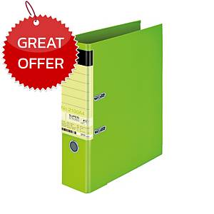ELEPHANT 2100 A4 LEVER ARCH FILE CARDBOARD A4 3   LIME