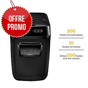 Destructeur Fellowes AutoMax™ 200C - coupe croisée