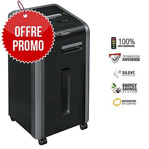 Destructeur Fellowes Powershred® 225Ci - coupe croisée