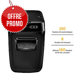 Destructeur Fellowes AutoMax™ 150C - coupe croisée