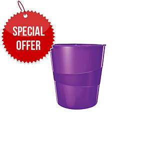 LEITZ WOW 5278 WASTEBIN PURPLE