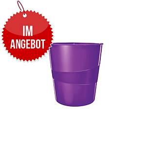 Leitz WOW Papierkorb, purpurrot
